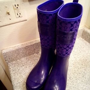 Coach rainboots 💜💜